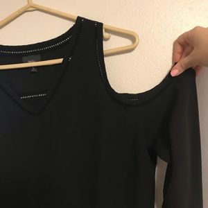 Open Shoulder black blouse Mossimo